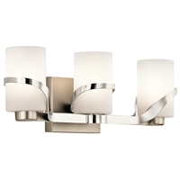 Picture for category Kichler 45629PN Stelata Bath Lighting 21in Nickel Tones STEEL 3-light