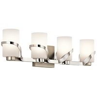 Picture for category Kichler 45630PN Stelata Bath Lighting 29in Nickel Tones STEEL 4-light