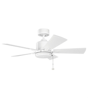 Picture for category Kichler 330241MWH Bowen Ceiling Fans White