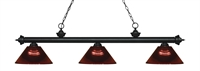 Picture for category Z-Lite 200-3MB-ARBG Riviera Matte Black Island Lighting 14in Black Tones Steel