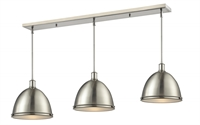 Picture for category Z-Lite 710P13-3BN Mason Island Lighting 13in Nickel Tones Steel 3-light