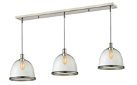 Picture for category Z-Lite 718P13-3BN Mason Island Lighting 13in Nickel Tones Steel 3-light