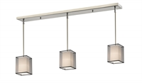 Picture for category Z-Lite 193-6-3BK Sedona Island Lighting 6in Nickel Tones Steel 3-light