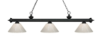 Picture for category Z-Lite 200-3MB-PWH Riviera Matte Black Island Lighting 14in Black Tones Steel