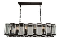 Picture for category Artcraft AC10260 Palisades Island Lighting 12in Matt Black 10-light