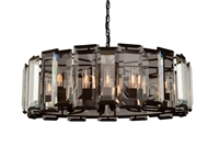 Picture for category Artcraft AC10262 Palisades Chandeliers 33in Matt Black 12-light