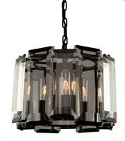 Picture for category Artcraft AC10263 Palisades Pendants 15in Matt Black 3-light