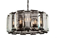 Picture for category Artcraft AC10269 Palisades Chandeliers 25in Matt Black 9-light