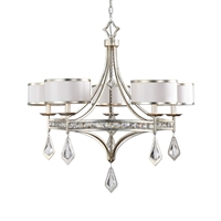 Picture for category Uttermost 21268 Tamworth Chandeliers 34in Iron 70% crystal 28% linen 2% 5-light