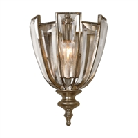 Picture for category Uttermost 22494 Vicentina Wall Sconces 9in Iron 47% crystal 50% poly 3% 1-light