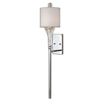 Picture for category Uttermost 22495 Grancona Wall Sconces 11in Metal glass fabric 1-light