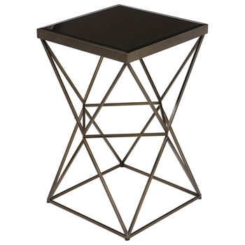 Picture of Uttermost 24614 Uberto Furniture 15in Steel tempered glass