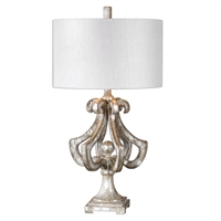 Picture for category Uttermost 27103-1 Vinadio Table Lamps 17in Poly metal fabric 1-light