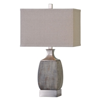 Picture for category Uttermost 27143-1 Caffaro Table Lamps 16in Ceramic steel linen 1-light