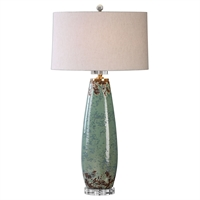 Picture for category Uttermost 27157-1 Rovasenda Table Lamps 18in Ceramic crystal steel 1-light