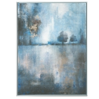 Picture for category Uttermost 36100 Lake At Dusk Decor 31in Canvas wood acrylic