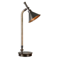Picture for category Uttermost 29180-1 Duvall Task Lighting Accessories 24in Metal fabric 1-light