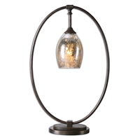 Picture for category Uttermost 29181-1 Lemeta Table Lamps 16in Metal glass 1-light