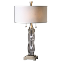 Picture for category Uttermost 26634-1 Spirano Table Lamps 16in Iron glass linen 2-light