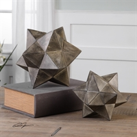 Picture for category Uttermost 20109 Geometric Stars Lighting Accessories 11in Concrete