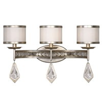 Picture for category Uttermost 22505 Tamworth Vanity Lighting 22in Metal k9 crystal faux fabric