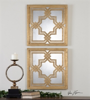Picture for category Uttermost 13865 Piazzale Squares Mirrors 20in Mdf