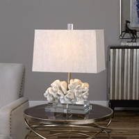Picture for category Uttermost 27176-1 Coral Table Lamps 16in Resin crystal iron 1-light