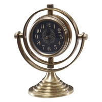 Picture for category Uttermost 06430 Almonzo Clock 7in Brass
