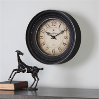 Picture for category Uttermost 06435 Melania Clock 16in Iron mdf glass