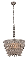 Picture for category Elegant 1219D19AS/RC Nordic Pendants 19in Silver Tones 5-light