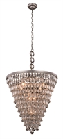 Picture for category Elegant 1219D24AS/RC Nordic Pendants 24in Silver Tones 7-light