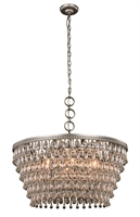 Picture for category Elegant 1219D28AS/RC Nordic Pendants 28in Silver Tones 6-light