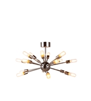 Picture for category Elegant 1135D30PN Cork Semi Flush Nickel Tones