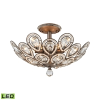 Picture for category Elk 11931/6-LED Evolve Semi Flush 19in Weathered Zinc Metal Crystal 6-light