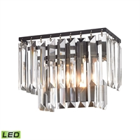 Picture for category Elk 15220/1-LED Palacial Vanity Lighting 10in Bronze Tones Metal Crystal