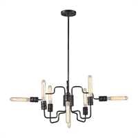 Picture for category Elk 31991/8 Transit Chandeliers 24in Silver Tones Metal 8-light