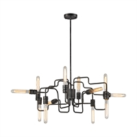 Picture for category Elk 31992/12 Transit Chandeliers 29in Silver Tones Metal 12-light