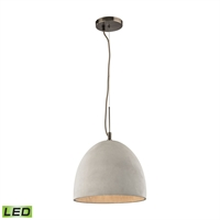Picture for category Elk 45334/1-LED Urban Form Pendants 12in Black Tones Concrete Metal 1-light