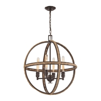 Picture for category Elk 63065-4 Natural rope Chandeliers 24in Bronze Tones Metal Rope 4-light