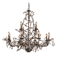 Picture for category Elk 8055/8+4 Circeo Chandeliers 49in Deep Rust Metal Crystal 12-light