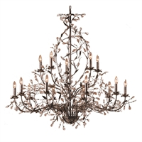 Picture for category Elk 8056/10+5 Circeo Chandeliers 54in Deep Rust Metal Crystal 15-light