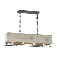 Picture for category Elk 14323/4 Brocca Chandeliers 9in Silver Tones Concrete Metal 4-light