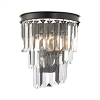 Picture for category Elk 14215/1 Palacial Wall Sconces 9in Bronze Tones Metal Crystal 1-light