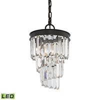 Picture for category Elk 14216/1-LED Palacial Pendants 8in Bronze Tones Metal Crystal 1-light