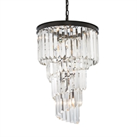 Picture for category Elk 14217/6 Palacial Chandeliers 16in Bronze Tones Metal Crystal 6-light