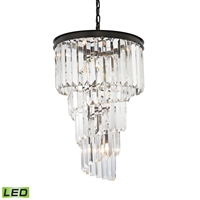 Picture for category Elk 14217/6-LED Palacial Chandeliers 16in Bronze Tones Metal Crystal 6-light