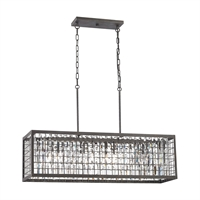 Picture for category Elk 14341/4 Nadina Chandeliers 11in Silver Tones Metal Crystal 4-light