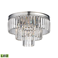 Picture for category Elk 15215/3-LED Palacial Semi Flush 19in Chromes Tones Metal Crystal 3-light