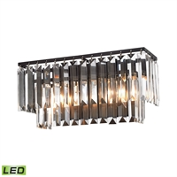 Picture for category Elk 15221/2-LED Palacial Vanity Lighting 15in Bronze Tones Metal Crystal
