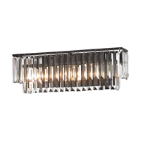 Picture for category Elk 15222/3 Palacial Vanity Lighting 27in Bronze Tones Metal Crystal 3-light